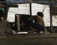 Villaggio flottante di Chong  Kneas sul Lago Tonle Sap Cambogia / Foto n. 0051