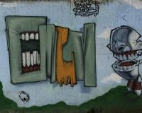 Graffiti multicolori Roma / Foto n. 0321