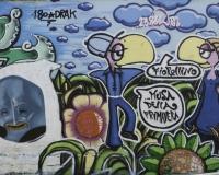 Graffiti multicolori Roma / Foto n. 0327