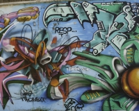 Graffiti multicolori Roma / Foto n. 0329