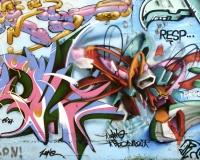 Graffiti multicolori Roma / Foto n. 0640